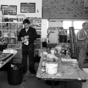 Nick Morris art studio